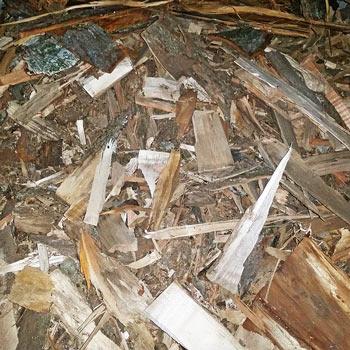 Palivové dřevo třísky