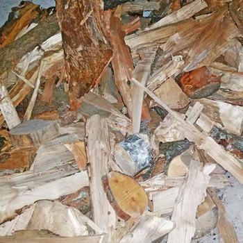 Palivové dřevo výmět